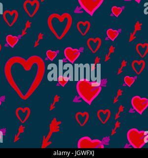 Silhouette Amor Uber Rosa Herz Fur Valentinstag Und Hochzeit Karte