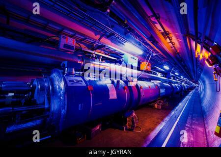 Großes Hadron Collider Tunnel. - Stockfoto