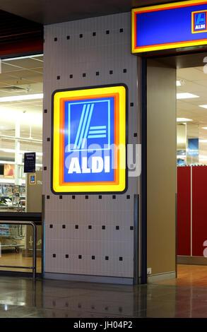 Aldi-Supermarkt in Melbourne Victoria Australien - Stockfoto