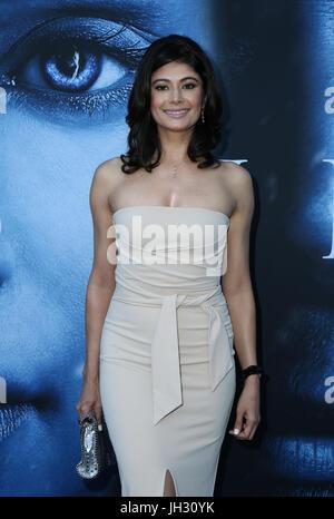 "Los Angeles, USA. 12. Juli 2017. Pooja Batra, bei Premiere OfHBO ""Game Of Thrones"" Staffel 7 bei der Walt Disney - Stockfoto"