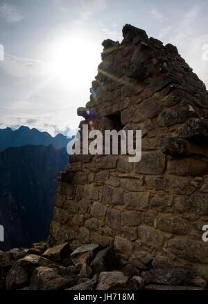 MACHU PICCHU, PERU - ca. Oktober 2015: Ruinen von Machu Picchu in Peru - Stockfoto
