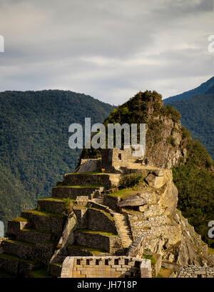 MACHU PICCHU, PERU - ca. Oktober 2015: Blick auf Machu Picchu in Peru - Stockfoto