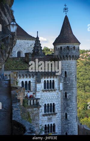 Heiligtum von Rocamadour, viel Abteilung, Midi-Pyrenäen, Frankreich. Naturparks der Region Quercy Causses - Stockfoto