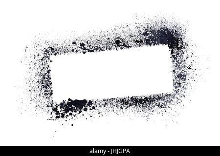 Schablone Zeichnung weiß auf schwarz gestrichenen Wand des ...