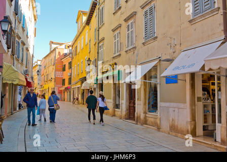 Carera Straße, Rovinj, Istrien, Kroatien - Stockfoto