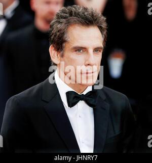CANNES, Frankreich - 21. Mai: Schauspieler Ben Stiller besucht 'The Meyerowitz Stories' Premiere während der 70. - Stockfoto
