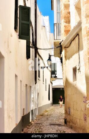 Ciutadella Straße Szene Menorca Menorca - Stockfoto