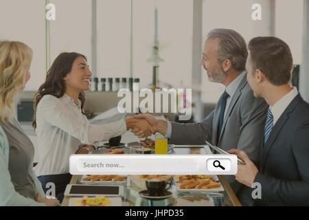 Digital Composite Suchleiste gegen treffen Fotohintergrund - Stockfoto