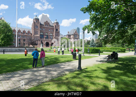 Toronto, CA - 24. Juni 2017: Ontario Legislative Building in Queens Park - Stockfoto