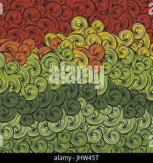 Abstrakte mehrfarbige Wellen-Muster. Vektor, EPS8 - Stockfoto
