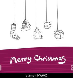 Frohe Weihnachten Geschenke Illustration. Vektor, Eps8. - Stockfoto