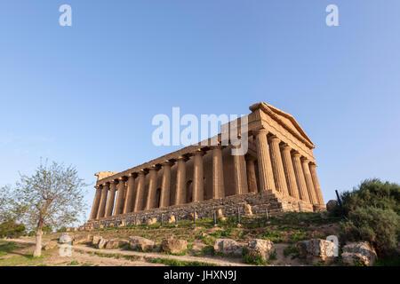 Tempel der Concordia, Tal der Tempel, Valle dei Templi, Griechenland-Kunst und Architektur, Agrigento, Sizilien - Stockfoto