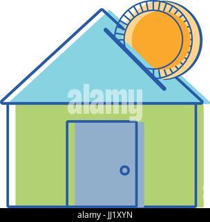 Haus, um Geld zu sparen, Geldwirtschaft - Stockfoto