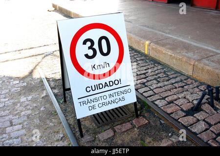 Straßenschild, Brasilien - Stockfoto