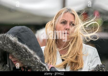 Ein Bad Hair Day Wind Windig Gale Gales Windswept Haar Frisur Blasen
