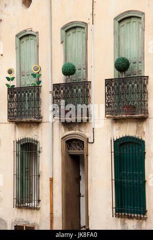 Frankreich, Languedoc-Roussillon, Pyrenäen-Orientales Abteilung, Vermillion Küstenlandschaften, Collioure, Gebäude - Stockfoto