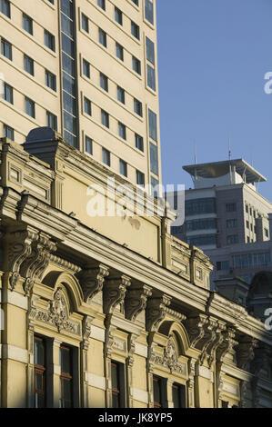 China, Heilongjiang, Harbin, Daolingqu-Viertel, Hausfassaden, Detail, - Stockfoto