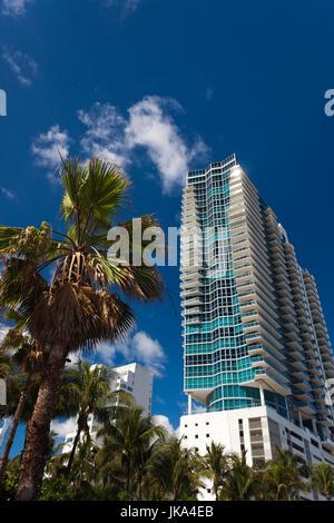 USA, Miami Beach, South Beach, Miami Beach, Hochhäuser - Stockfoto