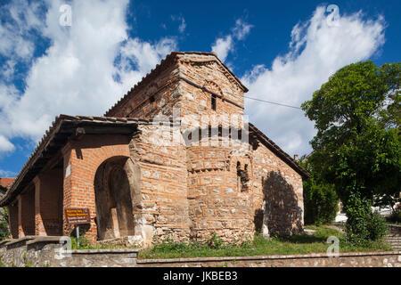 Griechenland, Mazedonien Region West, Kastoria, Taxiarches Mitropoleos-Kirche, erbaut im 9. Jahrhundert n. Chr., - Stockfoto