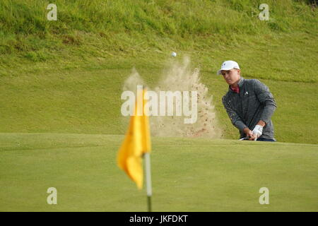 Southport, Merseyside, England. 22. Juli 2017. Jordan Spieth (USA) Golf: Jordan Spieth der Vereinigten Staaten am - Stockfoto