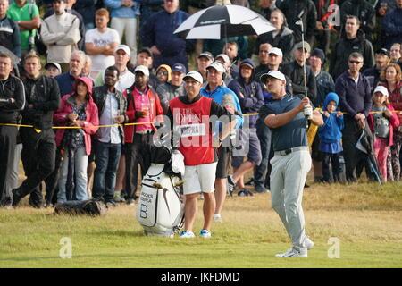 Southport, Merseyside, England. 22. Juli 2017. Brooks Koepka (USA) Golf: Brooks Koepka der Vereinigten Staaten am - Stockfoto