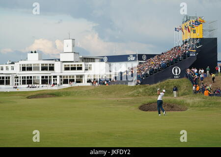 Southport, Merseyside, England. 22. Juli 2017. Royal Birkdale Golf Club Golf: Gesamtansicht der 146. British Open - Stockfoto
