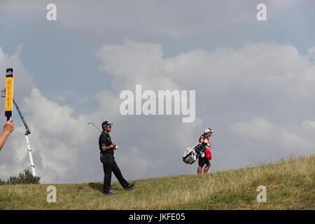 Southport, Merseyside, England. 22. Juli 2017. Hideki Matsuyama (JPN) Golf: Hideki Matsuyama in Japan am 9. Loch - Stockfoto