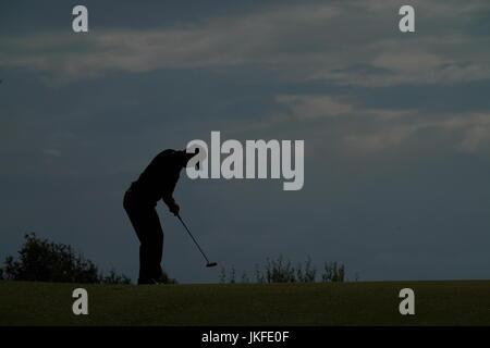 Southport, Merseyside, England. 22. Juli 2017. Hideki Matsuyama (JPN) Golf: Hideki Matsuyama in Japan am 12. Loch - Stockfoto