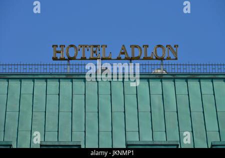 Hotel Adlon, Paris Platz, Mitte, Berlin, Deutschland, Hotel Adlon, Pariser Platz, Mitte, Deutschland - Stockfoto