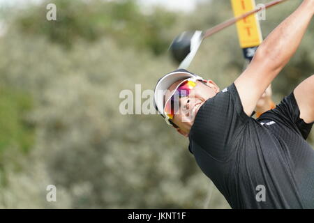 Southport, Merseyside, England. 22. Juli 2017. Hideki Matsuyama (JPN) Golf: Hideki Matsuyama in Japan am 2. Loch - Stockfoto