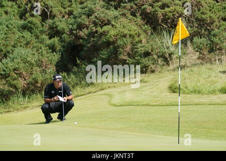 Southport, Merseyside, England. 22. Juli 2017. Hideki Matsuyama (JPN) Golf: Hideki Matsuyama in Japan am 8. Loch - Stockfoto