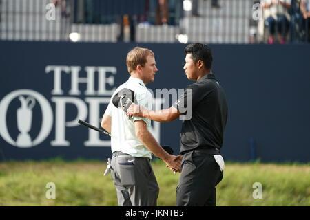 Southport, Merseyside, England. 22. Juli 2017. Hideki Matsuyama (JPN) Golf: Hideki Matsuyama in Japan am 18. Loch - Stockfoto