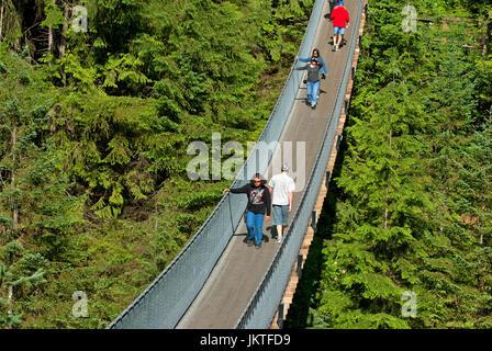 Capilano Suspension Bridge, Vancouver, Britisch-Kolumbien, Kanada - Stockfoto