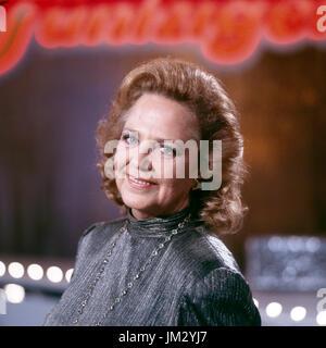 Deutsche Plant und Schlagersängerin Lonny Kellner, Deutschland 1980er Jahre. Die deutsche Schauspielerin und Sängerin - Stockfoto