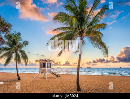 Fort Lauderdale, Florida, USA am Strand. - Stockfoto