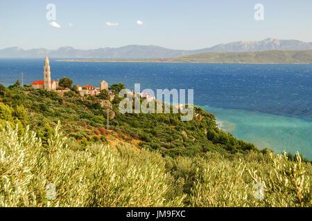 herrlich azurblauen Szene des kroatischen Sommerlandschaft in Igrane, Dalmatien, Kroatien - Stockfoto