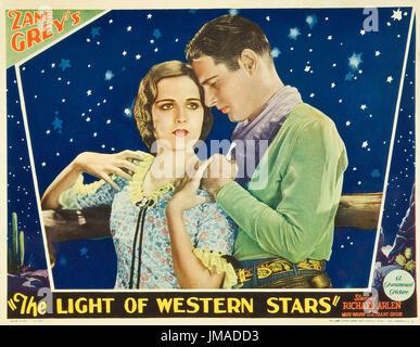 DAS Licht des westlichen STARS 1930 Paramount Pictures-Film mit Mary Brian und Richard Arlen - Stockfoto