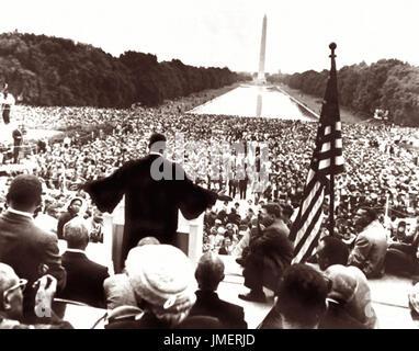 """Dr. Martin Luther King Jr. auf das Gebet Pilgerstätte für Freiheit Rallly am 17. Mai 1957 gab als er seine """"Geben - Stockfoto"""