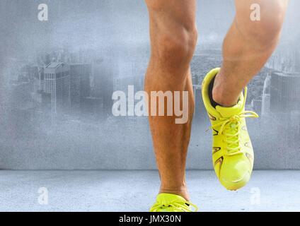 Mann Auf Der Stelle Joggen Stockfoto Bild 84826394 Alamy