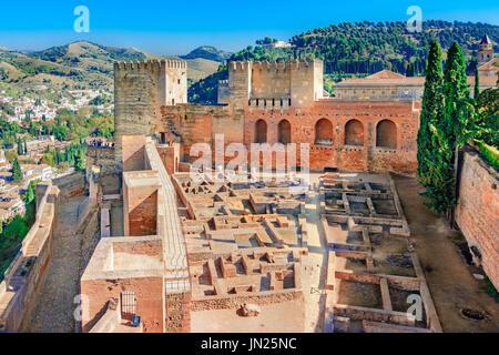 Alhambra, Granada, Andalusien, Spanien, nasriden Emirat Festung europäische Reise Sehenswürdigkeiten in Andalusien - Stockfoto