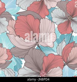 Blaue dekorative nahtlose linienmuster stockfoto bild for Design von zierpflanzen