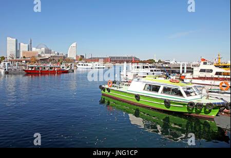 Yokohama Bay in Japan - Stockfoto