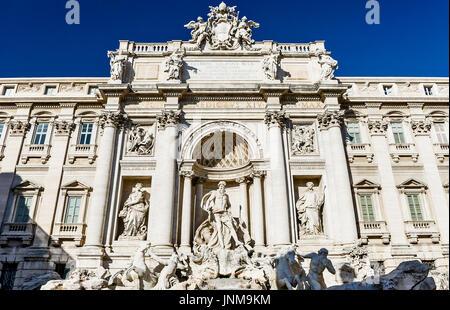 Rom, Italien, Trevi Brunnen - Stockfoto