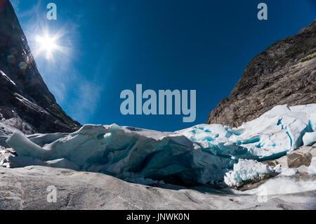 Blick auf Nigardsbreen - Jostedalsbreen Gletscher in Norwegen