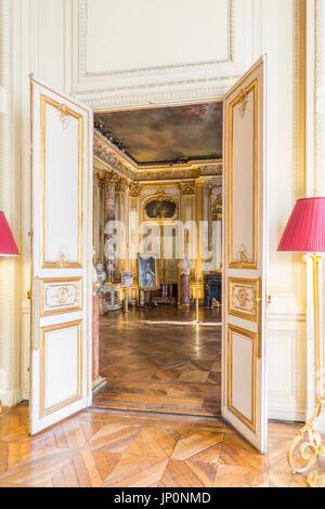 Paris, Frankreich - 3. März 2016: Innenraum des Musée Jacquemart-André am Boulevard Haussmann in der 8., Paris. - Stockfoto