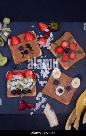 Erdnussbutter-sandwiches - Stockfoto