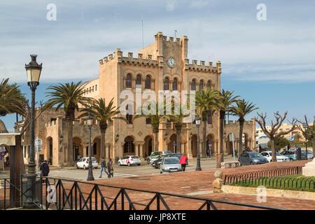 Spanien Balearen Insel Menorca, Ciutadella Stadt, Stadt Halle, - Stockfoto