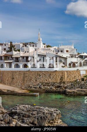 Spanien, Balearen Insel Menorca, alte Binibeca Fischerdorf - Stockfoto