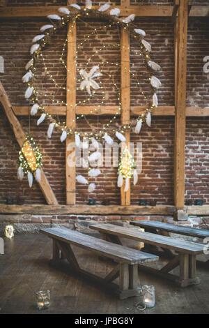Alternative Hochzeit Dekoration Traumf Nger Stockfoto