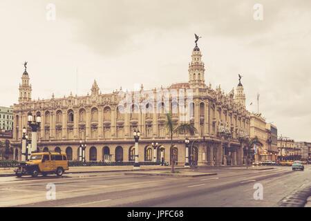 Das Gran Teatro De La Habana 'Alicia Alonso', The Grand Theater von Havana, La Habana Vieja, Alt-Havanna, Kuba - Stockfoto